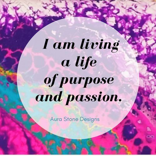 Affirmation: I am living a life of purpose and passion.   All Aura bracelets come with affirmations matched to the intent and metaphysical properties of the natural stones.