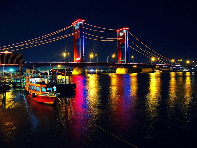 ampera bridge palembang south sumatera