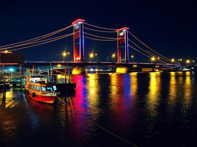 ampera bridge palembang south sumatera