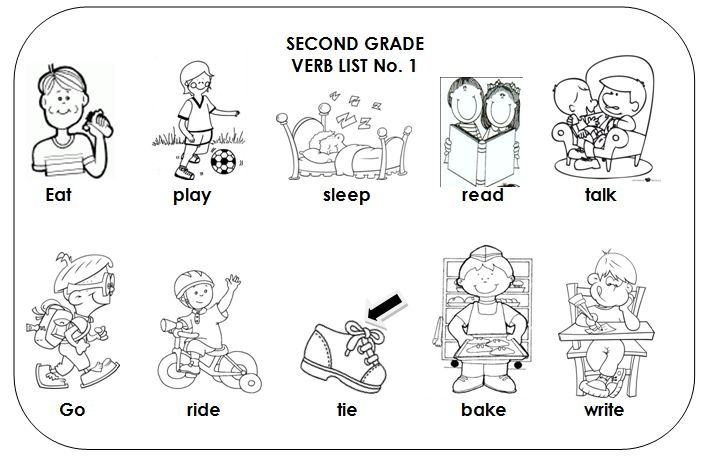 Free coloring pages of action verbs Verb worksheets