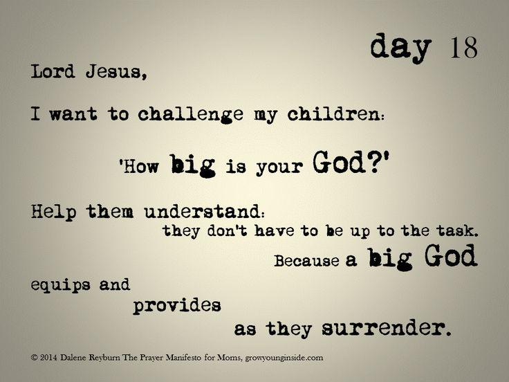 day 18 of The Prayer Manifesto for Moms