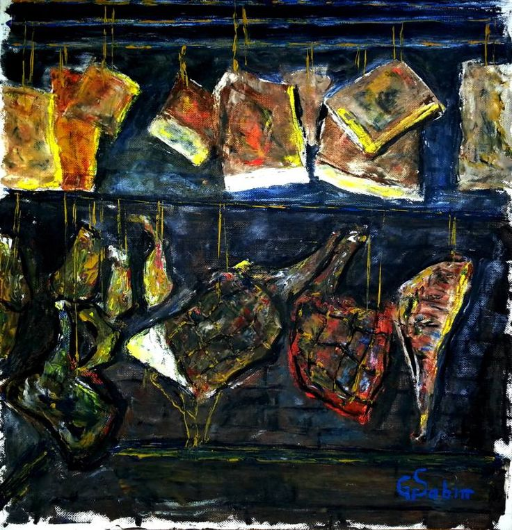 "Saatchi Art Artist George Sabin; Painting, ""Smokehouse"" #art"