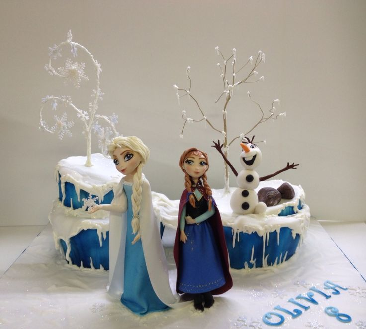 "My first ""Frozen"" Cake"