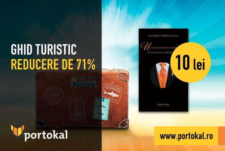 """Vacanța bate la ușă! Pregătește-te pentru orice destinație aleasă, fie ea exotică sau culturală, cu un ghid turistic de pe portokal.ro! Profită acum de reducerea de 71% din preț și cumpără cartea """"Un gentleman în străinătate – mic ghid pentru o călătorie reușită"""" la numai 10 lei, de aici: http://goo.gl/WmFQFX.  #Portokal #Vacanta #GhidTuristic"""