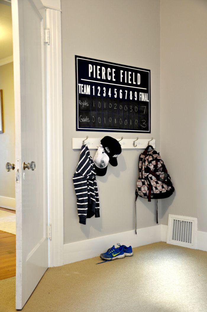 One Room Challenge DIY Baseball Scoreboard