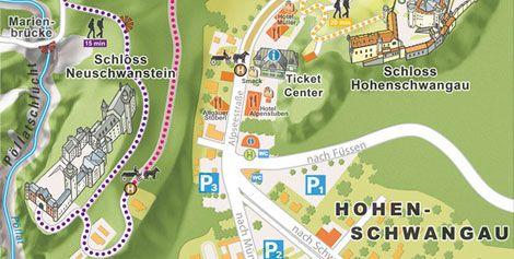 Image: Local map of Hohenschwangau