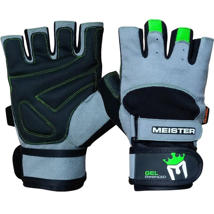 10.Meister Wrist Wrap Weight Lifting Gloves