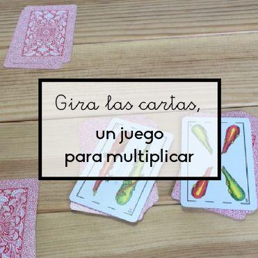 Una simple baraja de cartas la podemos convertir en un fantástico juego para multiplicar en parejas, que ayudará a aprender las tablas de multiplicar.