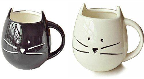Buy Need 300ml Lovely Cute Little White Black Cat Coffee