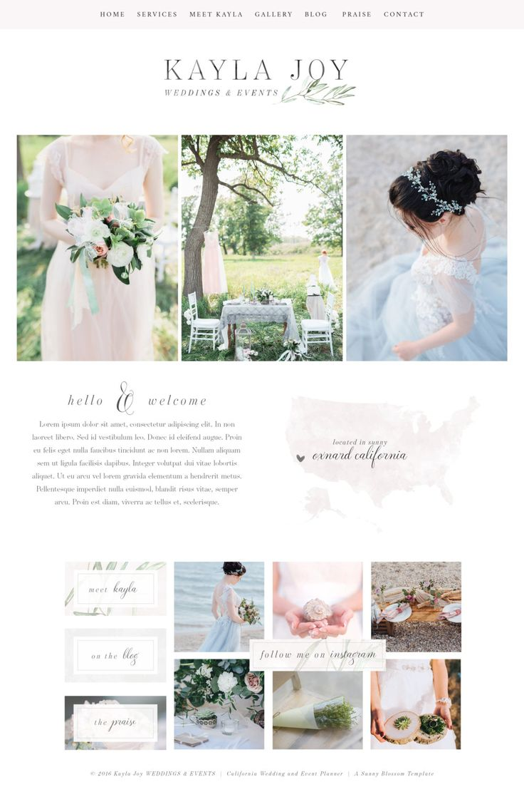 Wix Website Template, wedding planner website, event planner website, website design, event planner logo,wedding planner logo design, site41 by SunnyBlossomDesigns on Etsy