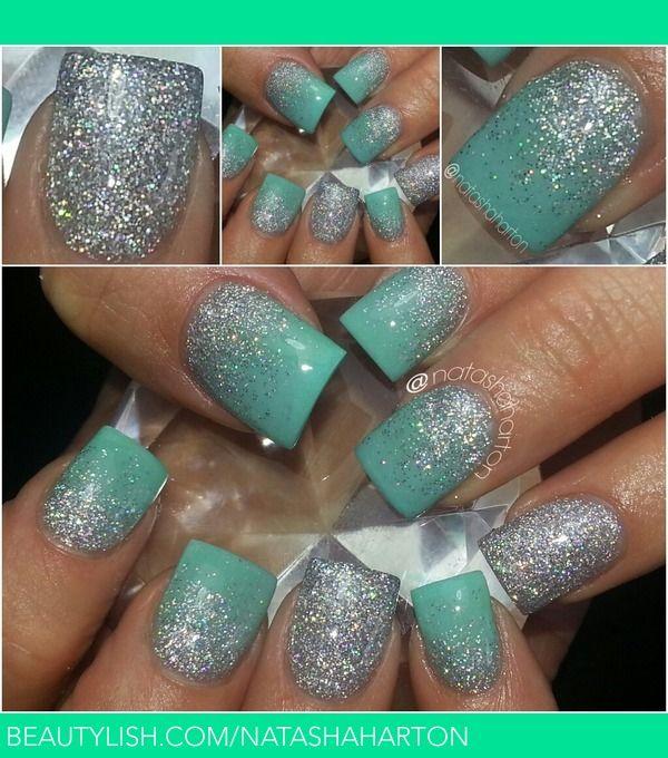 Tiffany & Co.Blue Nails . . LOVE LOVE LOVE!!! #nails #beauty #FXProm