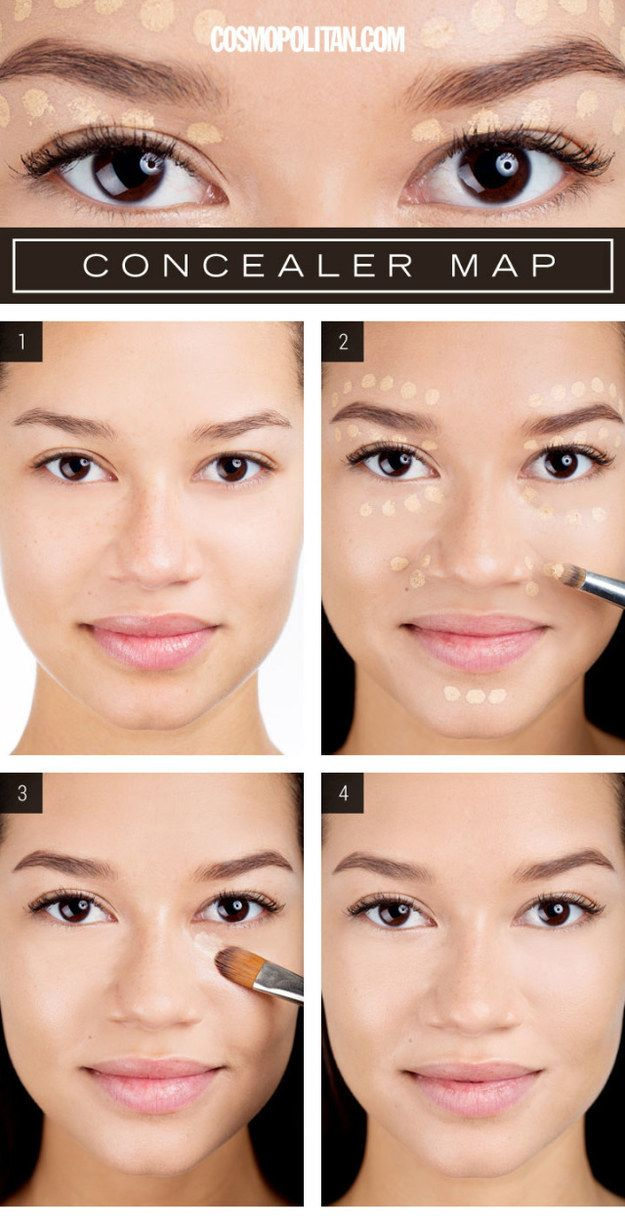 Use this concealer map to get a Beyoncé-like glow. | 21 Beauty Tricks For Makeup Addicts In Training