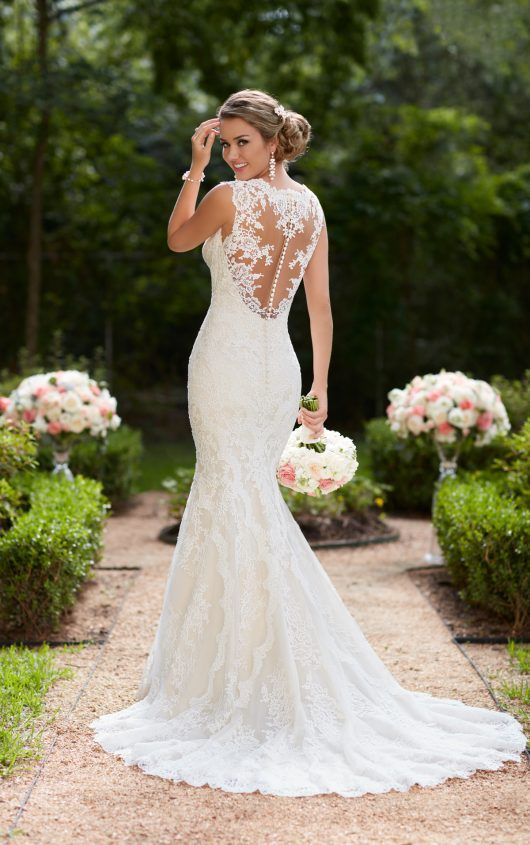 Best Wonderful Cascading Ruffles Mermaid Trumpet Summer Wedding Dresses