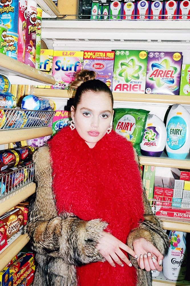 Fashion editorial: Lost in the supermarket with Pre-Fall Prada 2014   sleek mag // Supermarket Fashion