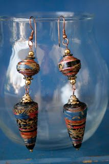 The Poetic Craft/Organic & Recycled Jewelry: Paper Earrings