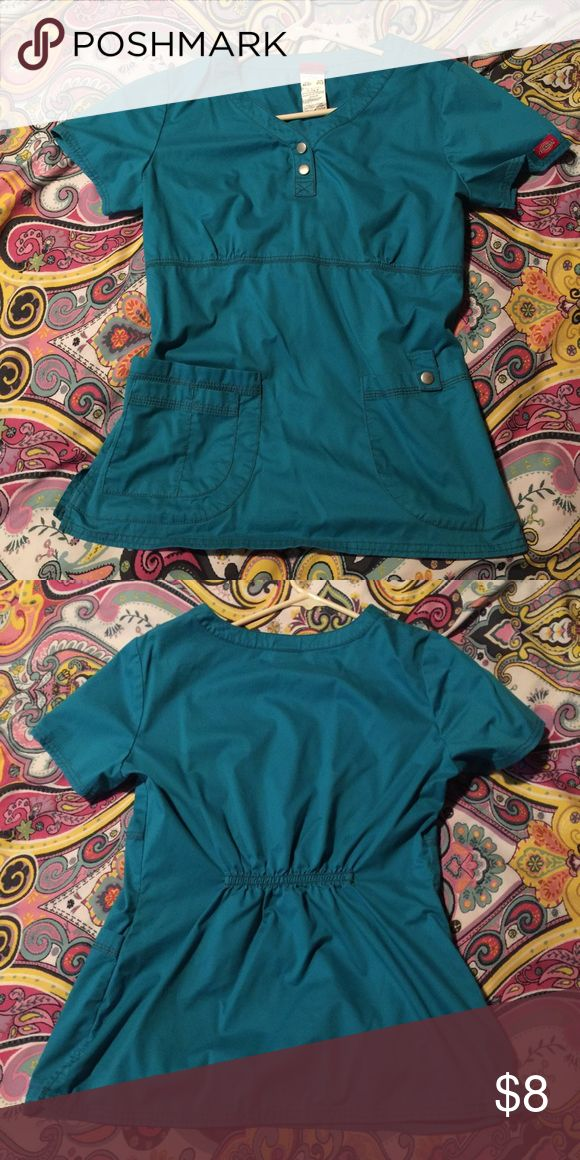 Sz S Dickies Teal Scrub Top Size Women's small dickies teal scrub top. Only worn a few times, so still in excellent like new condition! Dickies Tops