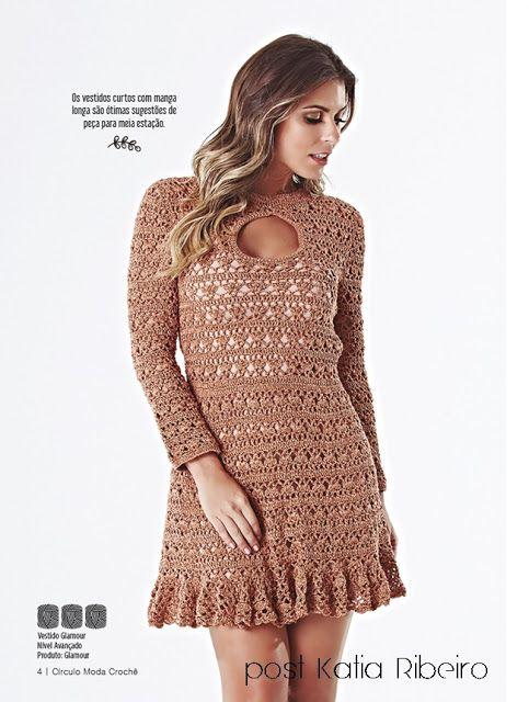 Revista Moda Crochê da Círculo Lançamento - Katia Ribeiro Crochê Moda e Decoração