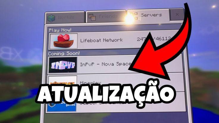 NOVA ATUALIZAÇÃO DO MINECRAFT POCKET EDITION COM MAIS NOVIDADES ! (Minec...