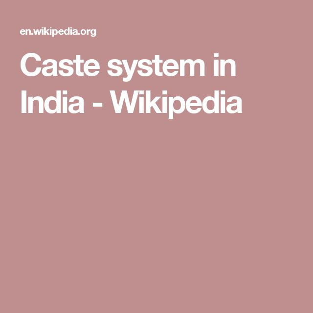 Caste system in India - Wikipedia