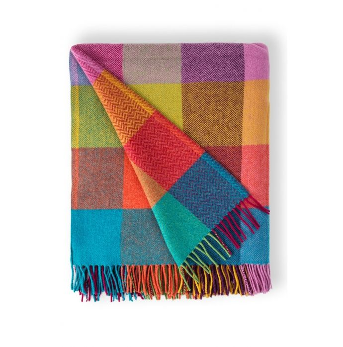 Circus Lambswool Throw | Available at Avoca