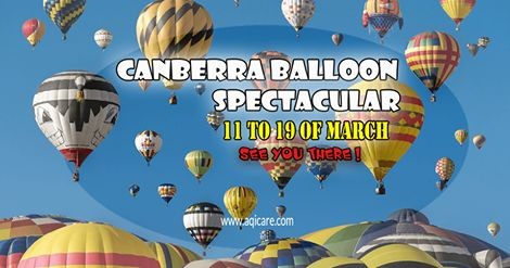 Considered to be one of the best and longest running hot air ballooning events in the world - CANBERRA BALLOON SPECTACULAR. See you there! #naturalskincare #skincareproducts #Australianskincare #AqiskinCare #australianmade
