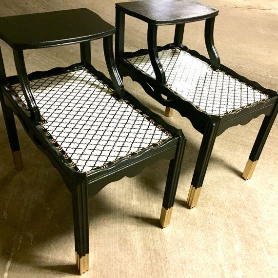 Amazing End Tables Vintage Two Tiered By TweakItShop On Etsy