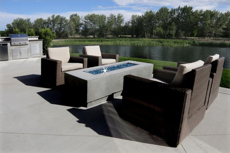 Renovare Model Home. Outdoor living space with a feature that only nature can provide.
