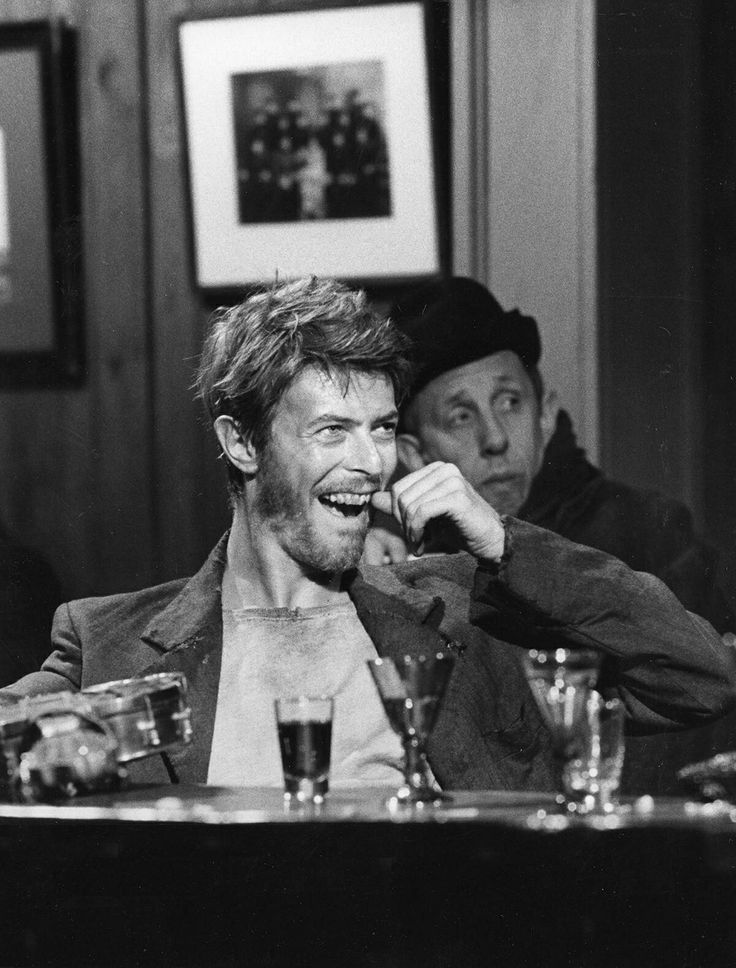 David Bowie in a Pub, 1970's