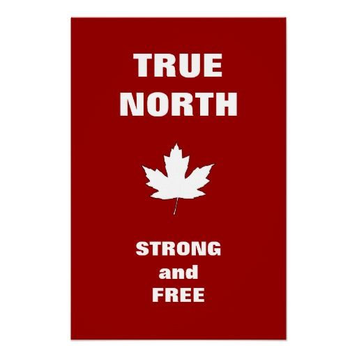 Canada Day White Maple Leaf Anthem Poster
