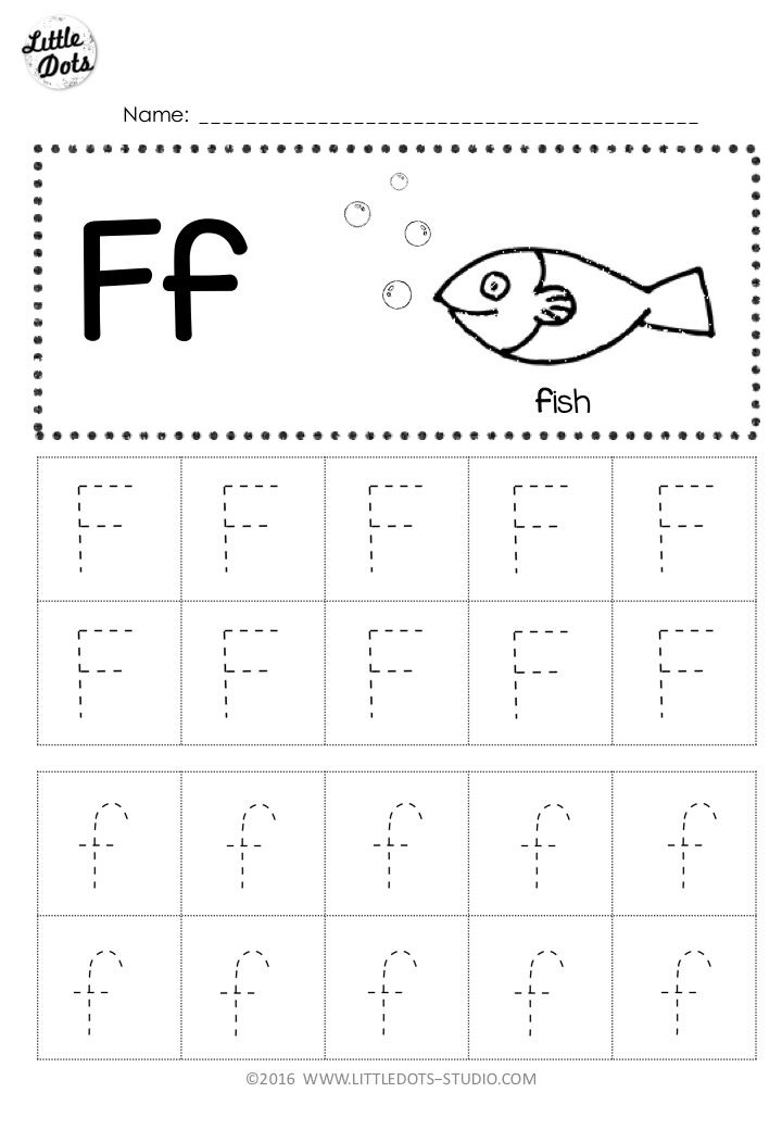 Single Post | Tracing worksheets, Letter f, School worksheets