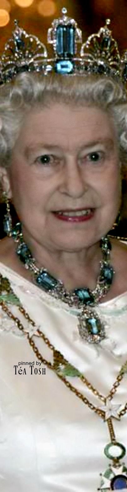 ❇Téa Tosh❇ Brazilian Aquamarine Tiara and Necklace, presented to Queen Elizabeth II by Brazil in 1953