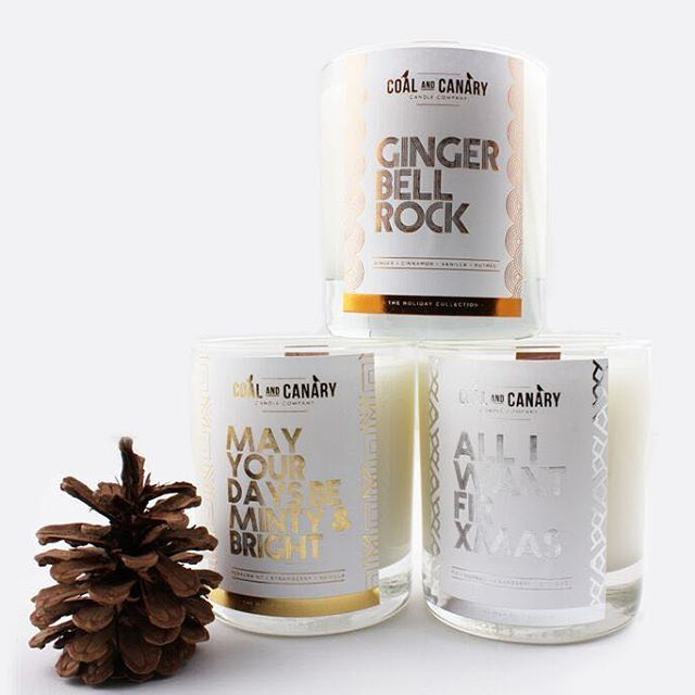 Coal and Canary Candle Company's Collection of Holiday Candles  (Only available until christmas)