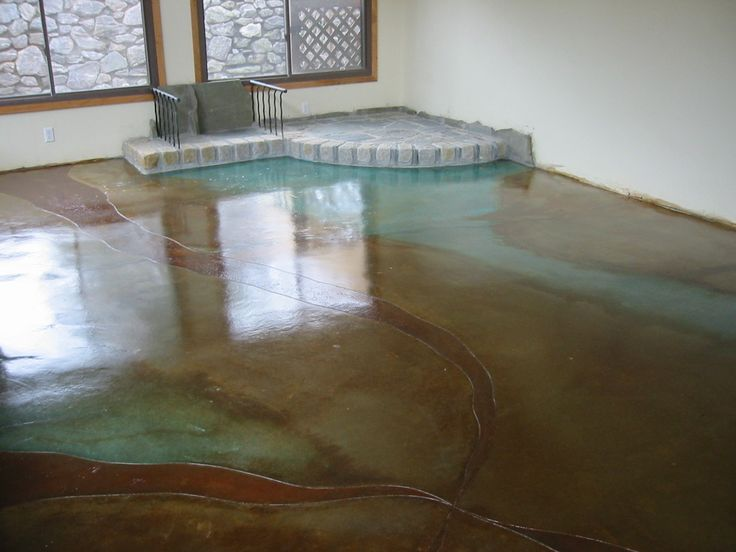 Acid wash concrete floor from my old house