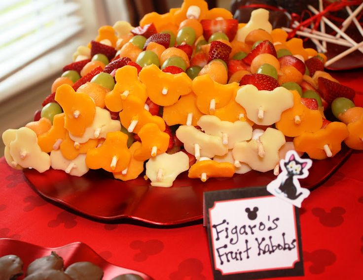 mickey fruit kabobs