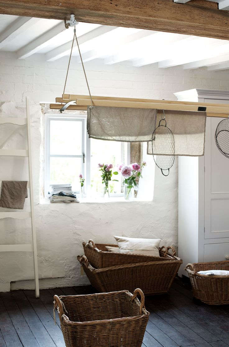 The laundry maid from deVOL's home accessories range looking beautiful hanging in our Cotes Mill showrooms.
