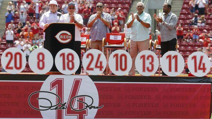 Pete Rose has No. 14 retired by Cincinnati Reds