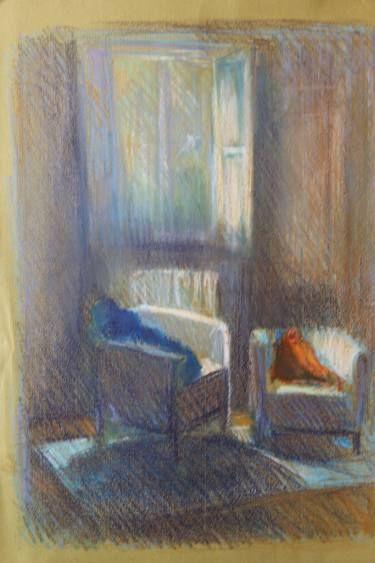 """Saatchi Art Artist simone Butturini; Painting, """"Two armchairs - Valganna"""" #art"""
