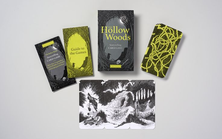 Product design for 'The Hollow Woods: Storytelling Card Game' - designed by Angus Hyland and team