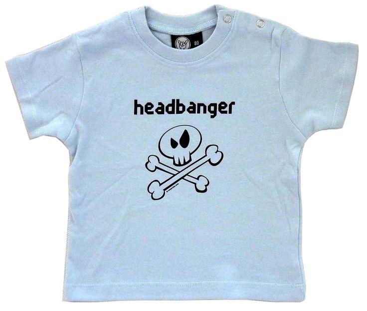 Headbanger Baby Shirt 0-18 Months (choice of 4 sizes)
