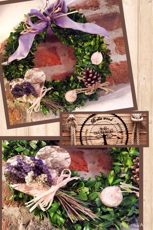 Levander romantic wreath