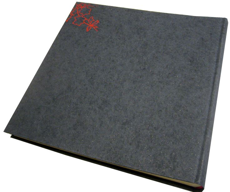 Photo Album .Cloth binding.Back cover.  Hot foil embossed dessign.