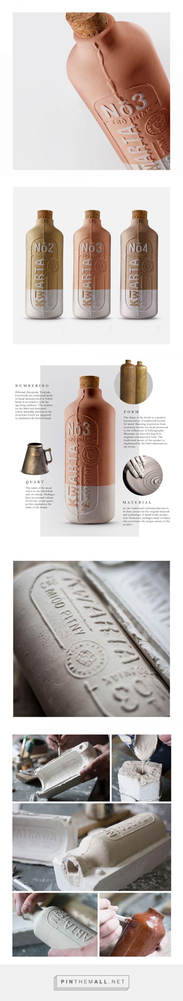 Kwarta mead packaging design by OPUS B - http://www.packagingoftheworld.com/2017/09/kwarta.html