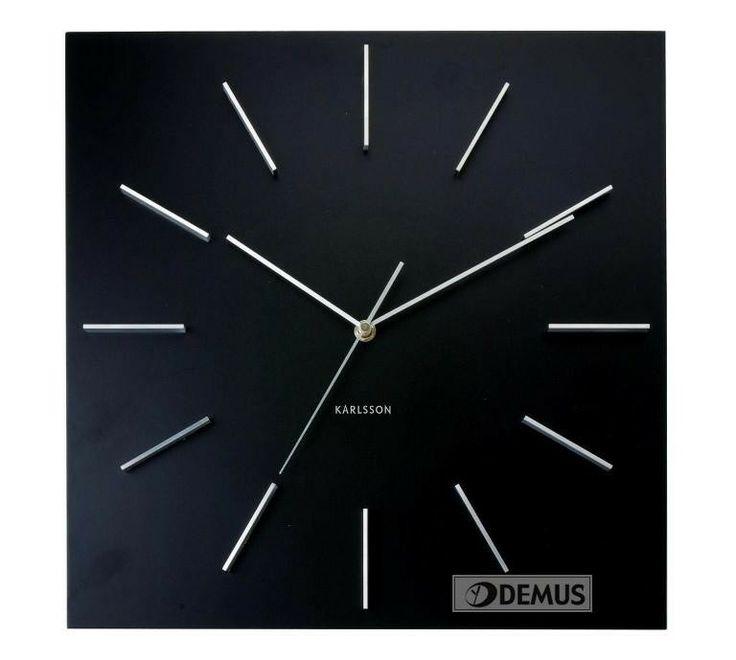 #Zegar ścienny #Karlsson Delicate Square Black #KA5270BK #Zegary