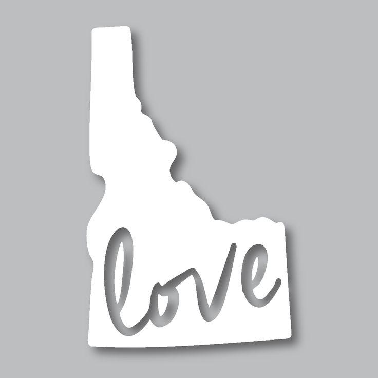 Idaho love diecut sticker