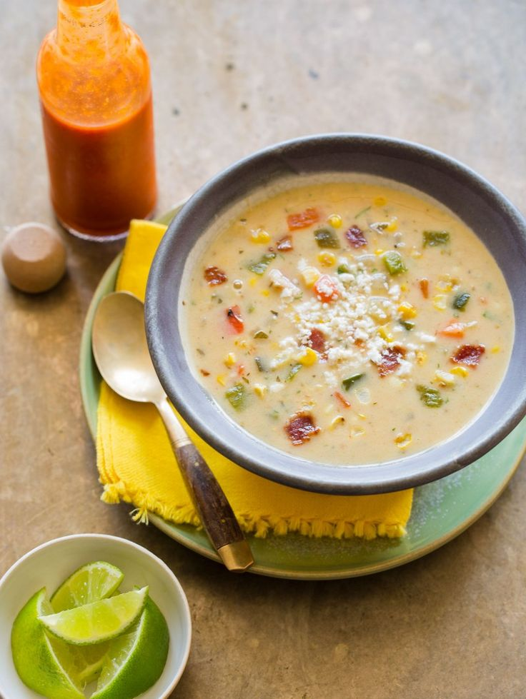 Roasted Corn Chowder | Soup Recipe | Spoon Fork Bacon