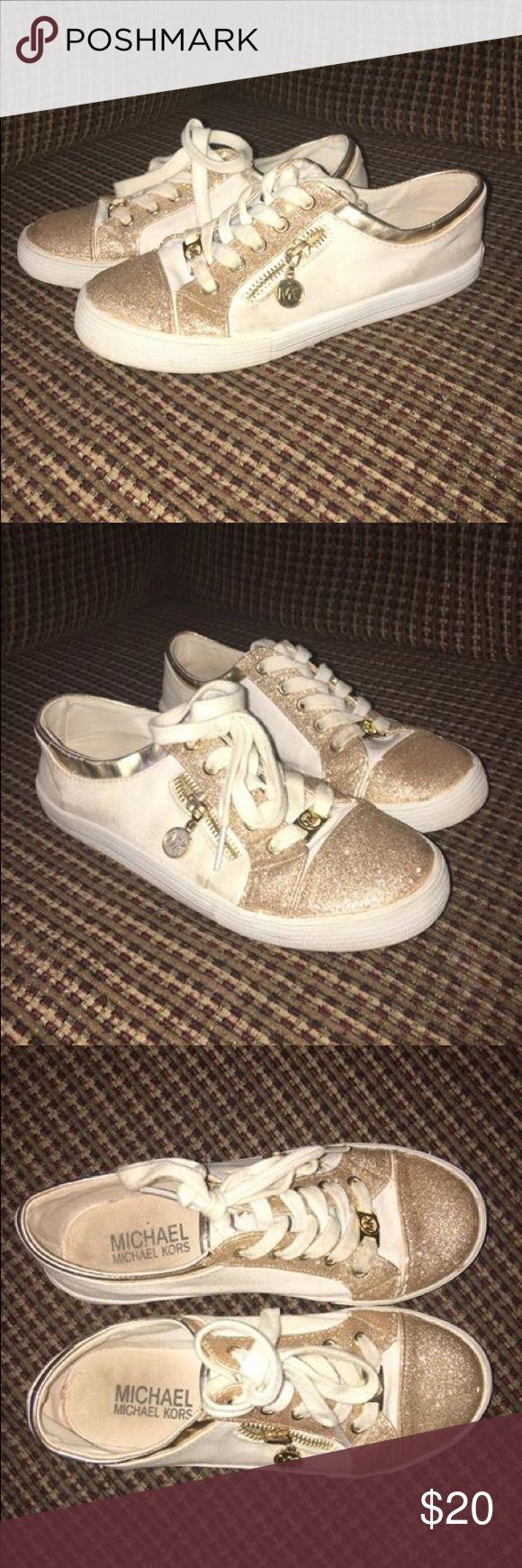 Michael Kors Girls Tennis Shoes Used condition, still lots of life left in them Michael Kors Shoes Sneakers