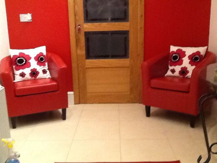 Trish Loved Her New Mayfair Red Bicast Leather Tub Chairs So Much She Sent  In Her