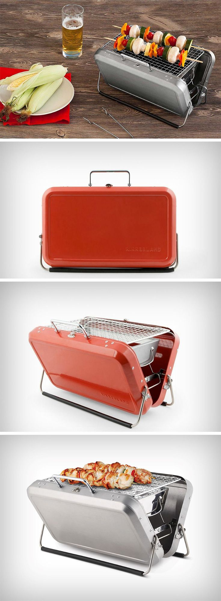 The BBQ Suitcase comes in stainless steel and opens up from a tiffin-box to a completely capable grill enough to barbecue food for two. Designed ultimately for convenience, the portable barbecue comes with a kickstand to give it stability, and even an ash catcher that allows the product to stay mess-free. BUY NOW!