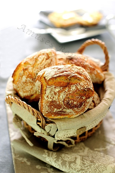 Simple bread recipe (in french) / Pain sans pétrissage