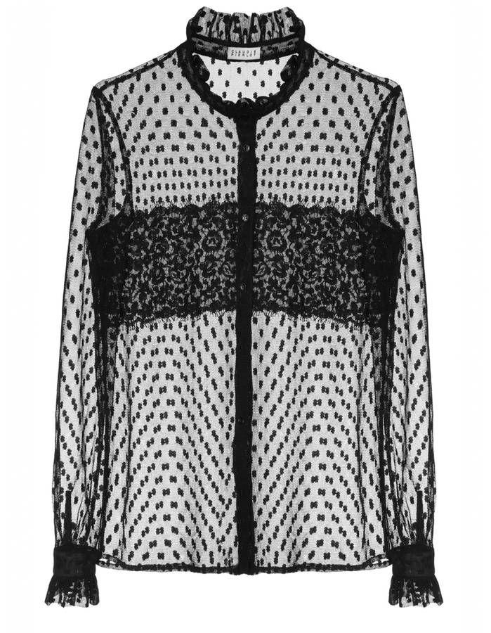 Chemise femme en dentelle Claudie Pierlot, 165 euros / 21 chemises pour passer du bureau au resto